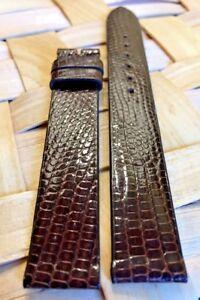 Lizard-Skin-Genuine-MOVADO-15mm-Brown-Leather-Watch-Strap-Band-Retail-110-00