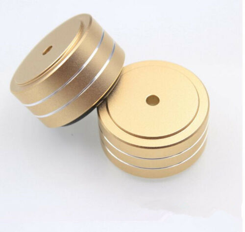 40*20mm Aluminum Speaker Turntable Isolation Stand Feet DAC CD AMP Mat Pad x 4