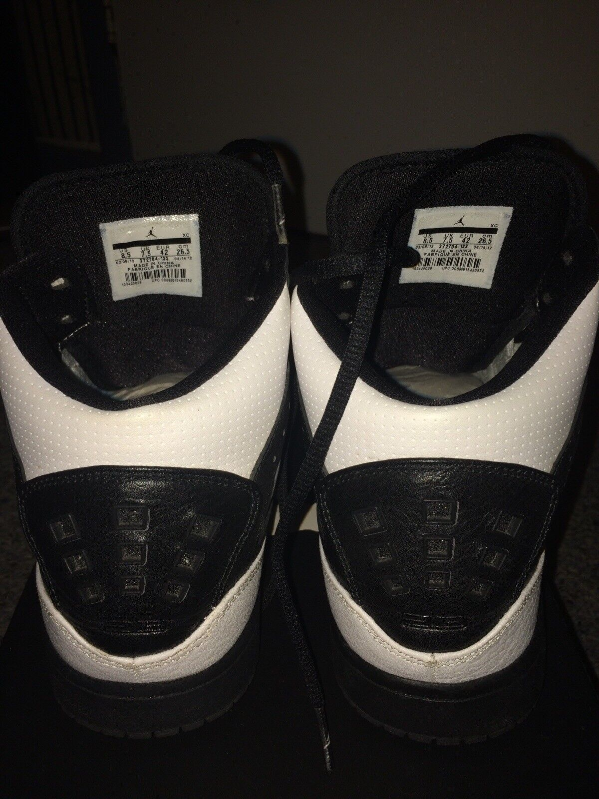 Nike Jordan 1 Flight High top  - White, Size Black-Dark Grey - Size White, 8.5 952ccd