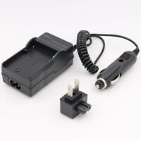 Ac Wall+dc Car Battery Charger Kit Fit Jvc Bn-vg107 Everio Gz-hm300bu Gz-hm320bu