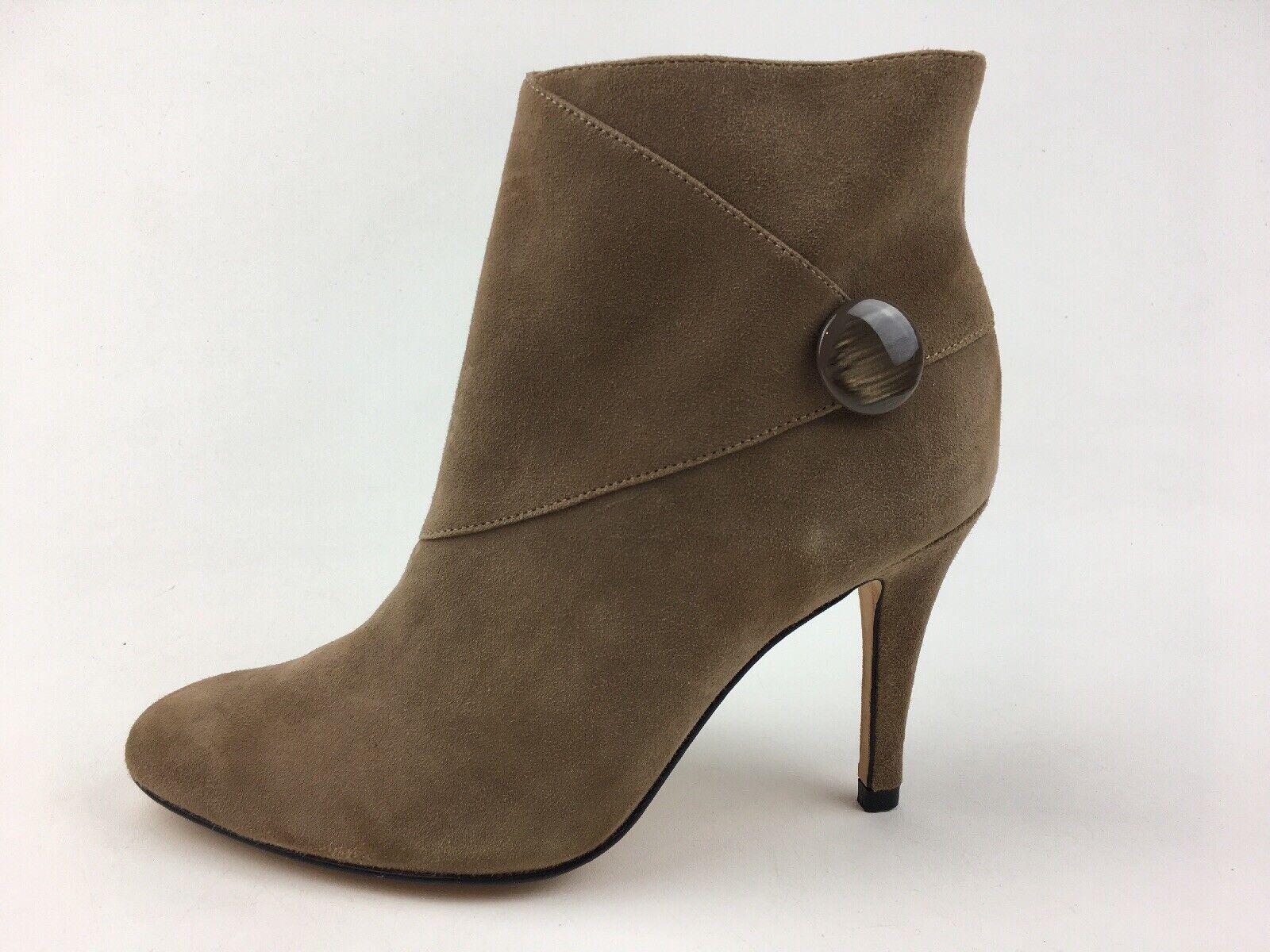 Vaneli Casperia Women's Heel Ankle Booties Size 5.5M, Truffle Suede 2168
