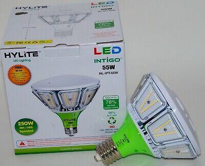 55w Intigo Post Top Led Lamp 250w Hid Retrofit Mogul Base Hl Ipt 55w E39 50k Ebay