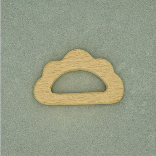 Baby Wooden Teether Creative Cloud Shape Chewing Toys Baby Gifts 8C