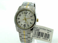 CASIO MTP1315SG-7B White Round Large Easy to Read Arabic Number Dial Steel Band