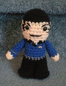 Amigurumi Star Trek : Amigurumi Hand Crocheted Star Trek Spock Vulcan Doll *NEW ...