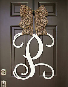 Charmant Image Is Loading Wooden UNFINISHED Monogram Door  Hanger SINGLE Custom Initial