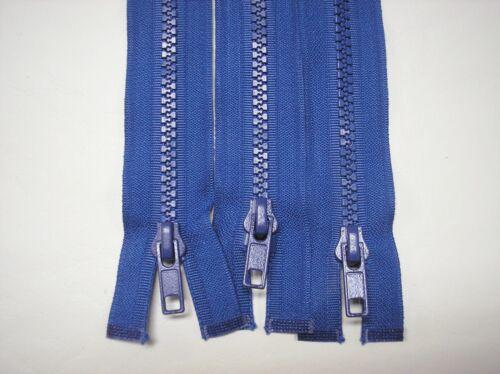 "3-31/"" Blue # 5 Separating Plastic Teeth Zippers Lot #819"