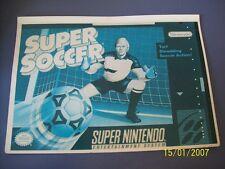 Super Soccer SNES 16 Bit Super Nintendo Vidpro Card