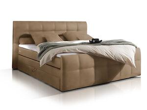 boxspringbett 180x200 bettkasten boxspring bett h3 sand beige doppelbett samara ebay. Black Bedroom Furniture Sets. Home Design Ideas