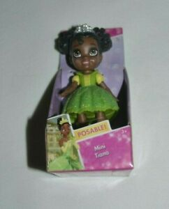 DISNEY PRINCESS MINI TODDLER TIANA SPARKLE COLLECTION POSEABLE 3 INCH DOLL