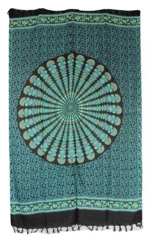Fair Trade Ethnic Hippy Floral Mandala Print Sarong Approx 165 x 105 cm