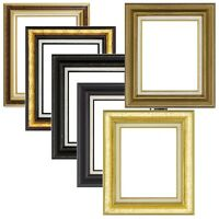 Quality Wood Frame Gold Brown Black 2.5 Wide For Photo Picture Art Painting