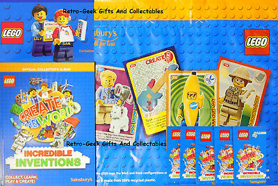 Gift Sainsburys Lego Cards Create the world Incredible Inventions 100 Cards new
