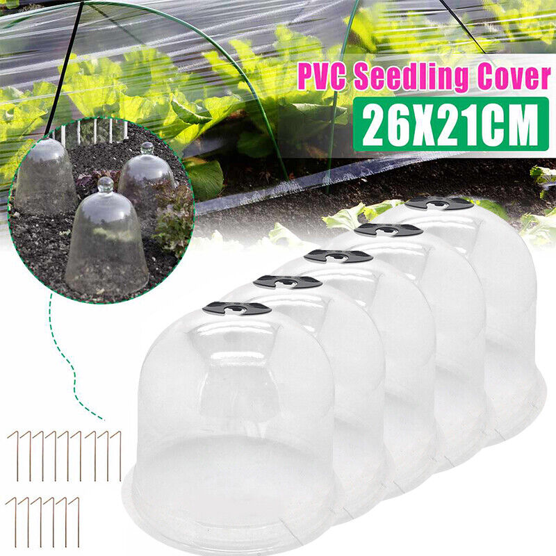 5X Garden Cloche Dome Plant Bell Protector Cover Plastic for Plant Protection