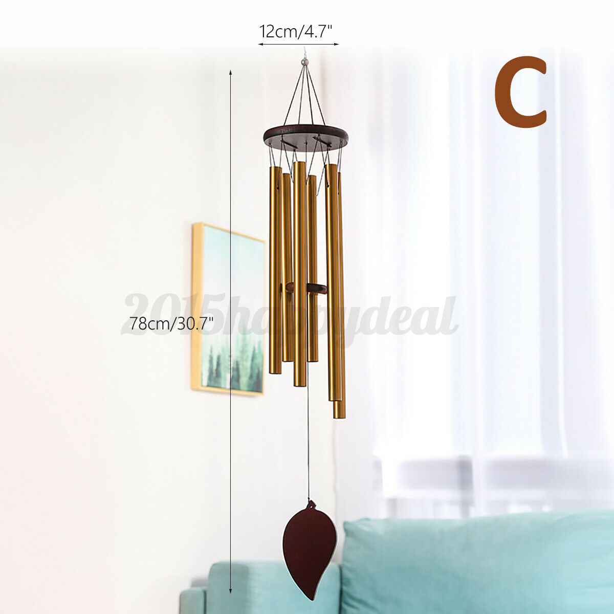 Wind Chimes Large Deep Tone Metal Outdoor Garden Home Decoration Patio Porch UK