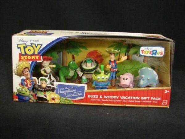 Mattel Toy Story Hawaiian Vacation Buzz /& Woody Vacation Gift Pack Mini Figure Set
