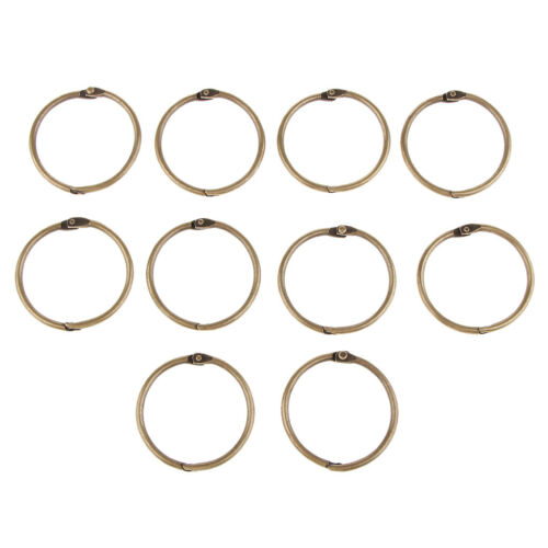 10x Metal Open Jump Rings Blinder Split Rings Loose Leaf Paper Blinding Ring