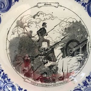 Assiette-Guerre-de-Crimee-Russie-Malakoff-Prise-de-Sebastopol-RUSSIA-CRIMEA-XIXe
