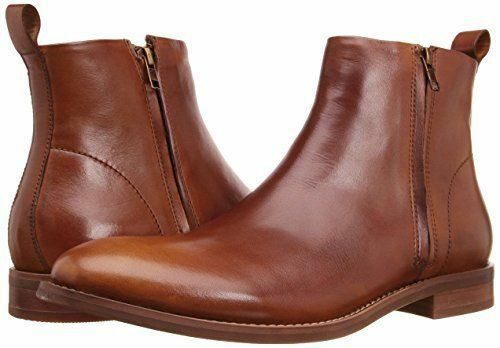 MEN HANDMADE PURE REAL QUALITY LEATHER SIDE ZIPPER ANKLE SHOES FOR MENS