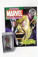 "Spider-Man Green Goblin Lead Figurine w/ Magazine, Marvel Eaglemoss 3.5"" [EGM]"