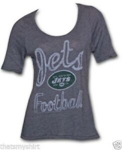 New-Authentic-Junk-Food-Ladies-Vintage-NFL-New-York-Jets-Fashion-T-Shirt-Size-S