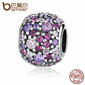 Bamoer-Authentic-S925-Sterling-Silver-Charm-Ball-With-Colorful-CZ-Fit-Bracelet
