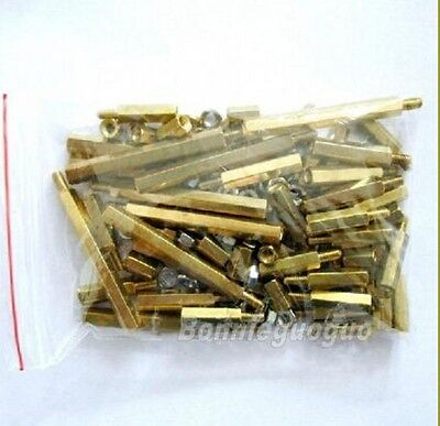 Brass Standoff Hex Spacer Screw Nut M3 kits for Freescale Smart car total 116pcs