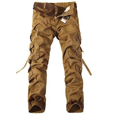 Combat Homme Coton Cargo ARMÉE Pantalon Militaire Camouflage