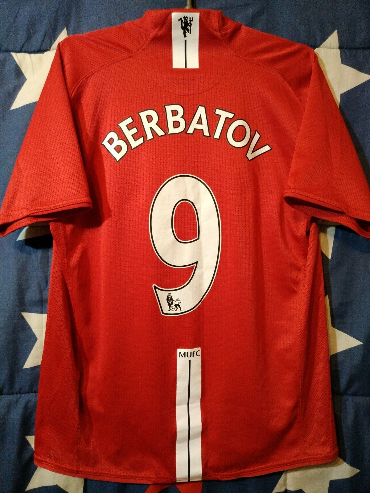 Dimensione M Manchester United 200720082009 Home Football Shirt Jersey Berbatov  9