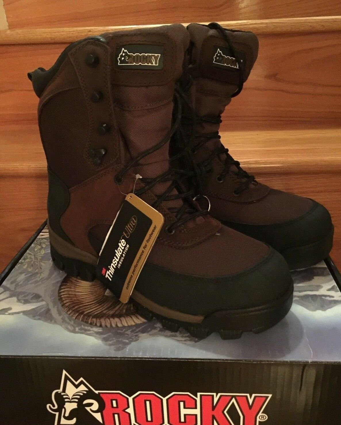 NWT Rocky Men's Brown FQ0004753 800g Thinsulate Insulated Brown 8