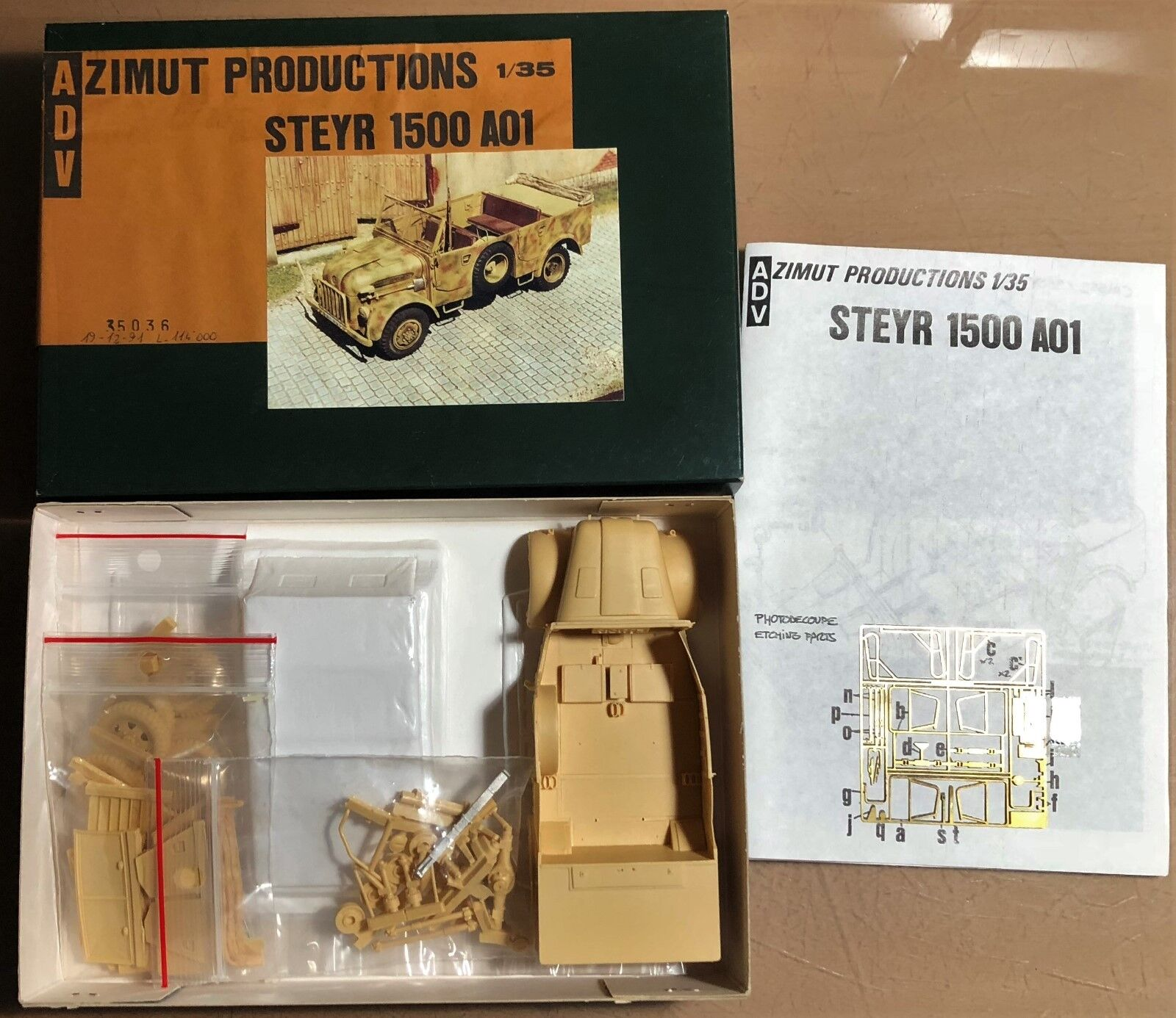 ADV azimuth production 35036-Steyr 1500 a01 - 1 35 Resin Kit