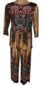 Attitudes Top Tan 2 Pantalone By Size Bnwt Multi Completo Xl pezzi Renee pantaloni l Hwpdxg