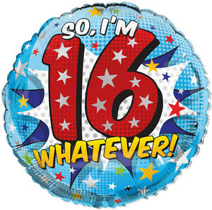 Image Is Loading Round 18 034 16th Birthday Foil Helium Balloon