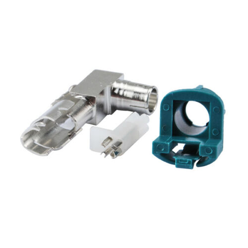 New Car HSD Fakra Z Crimp Female Jack Right Angle Connector for Dacar 535 4 pole