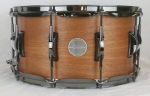 Click-7-5x14-8ply-Mahogany-Snare-Drum-Natural-Satin-Oil-Finish