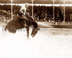 1917 El Paso Texas Tx Cowgirl Bea Kirnan Lady Rodeo Round