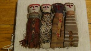 Vintage-Peruvian-Chancay-Burial-Cloth-Textile-Dolls-Folk-Art-Circa-1950-1960-039-s