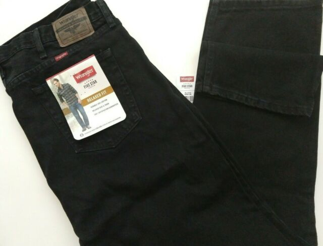 Size Big and Tall Wrangler 5 Star Relaxed Fit Jean Men/'s