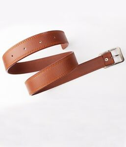 Men's Faux Leather Belt Tan Color with Free shipping