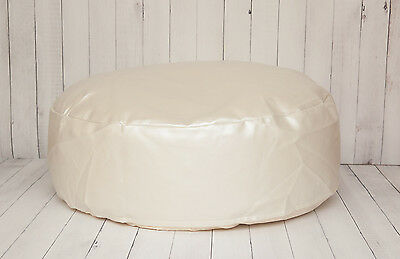 Travel Size Leather Newborn Posing Bean Bag - Infant Poser Pillow -Photo Prop