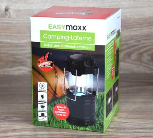 LANTERNA da campeggio e funzionamento a batteria luce di lavoro di Easymaxx NUOVO *