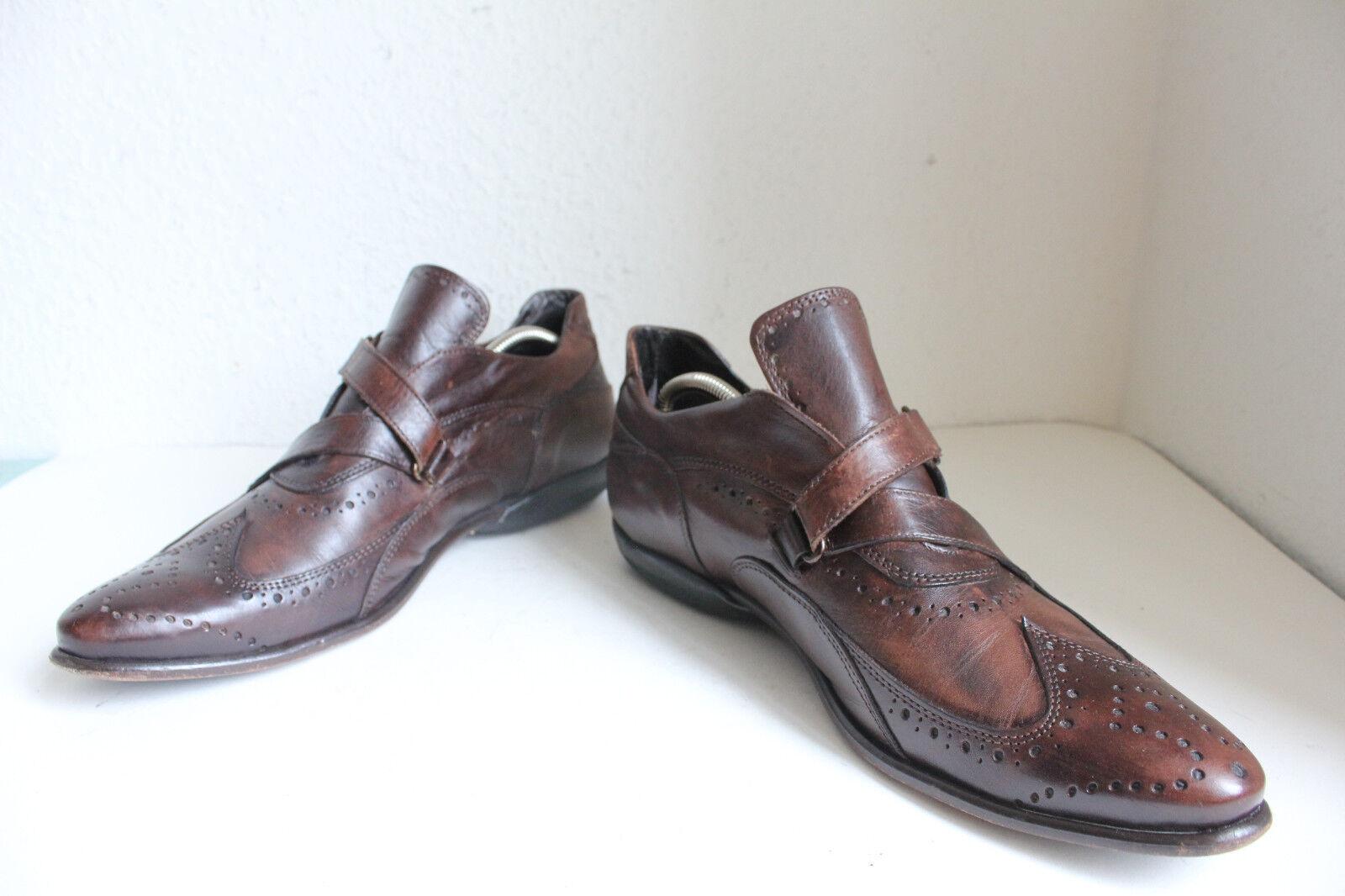 Elegante Voll Budapester Halb Stiefeletten botas Voll Elegante Echtleder Braun Eu:45-45,5 bc5379