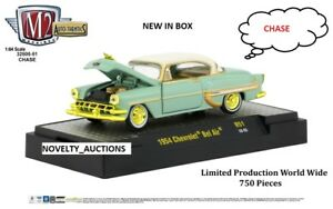L133-32500-51-M2-MACHINES-AUTO-THENTICS-1954-CHEVROLET-BEL-AIR-GREEN-1-64-CHASE