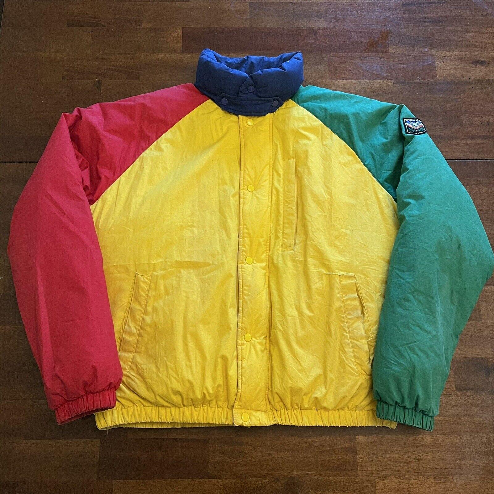 VTG Ralph Lauren Polo Uni Jacket Unicrest Down Pu… - image 1