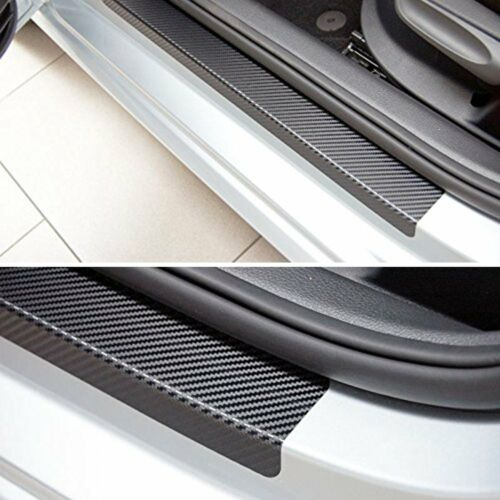Car Door Sill Scuff Carbon Fiber Stickers Welcome Pedal Protect Accessories 4PCS