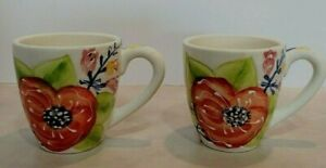 Laurie-Gates-Coffee-Mugs-Set-of-Two-4-1-2-034-Tall-Flowers