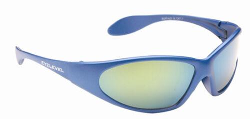 Childrens Kids Boys Wrap Around Sports Ski Retro Mirror Blue Black Sunglasses