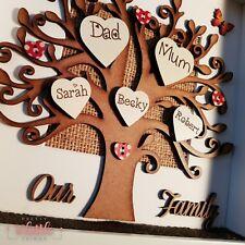 Auntie Keepsake Personalised Gift for Mum Mom Family Tree Frame Nana Dad