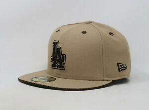 New-Era-59Fifty-Hat-Mens-MLB-Los-Angeles-Dodgers-Camel-Brown-5950-Fitted-Cap