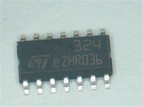 10 Stücke Low Power LM324DT LM324 Quad Op-Amp Smd SOP-14 cl